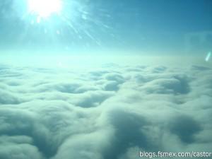 Capa de Nubes desde el Cessna 172