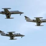 Formación de Learjets en Flyers