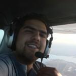 Abordo del N4789P en mi primer vuelo en Alpha Tango