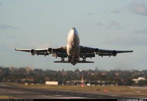 Despegue con viento cruzado de 747