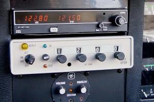 Radio y Transponder de avión