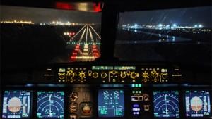 A320 Aterrizando de noche
